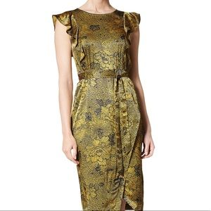 LK Bennett April Dress Citrine/Blue